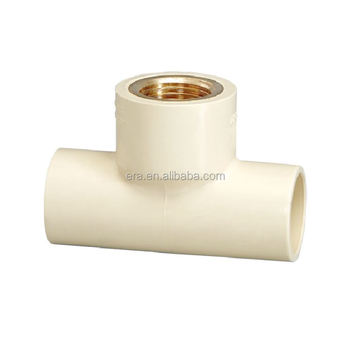 ERA CTS ASTM D2846 C-PVC Hydraulic Pipe Fittings Equal Tee Inserted Thread Brass
