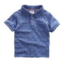 2018 Wholesale newborn baby clothes T-shirt 100% Cotton Baby denim polo shirts