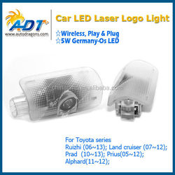 Newest Wireless No drill play&plug and plug logo car laser projector light for toyota