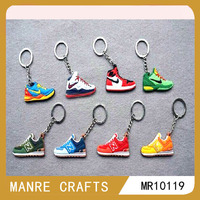 sports shoes/top grade /hot sale/promotional rubber key chain