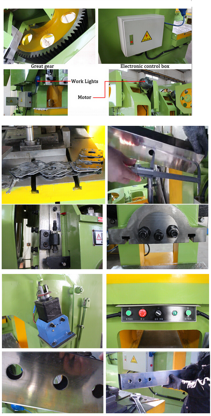 Quality sheet metal manual hole punching machine with CE,angle iron punching machine