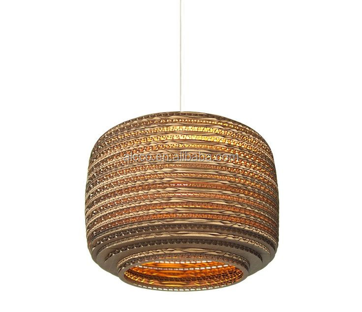 Decorative Pendant Lighting Home Lights Recycled Cardboard