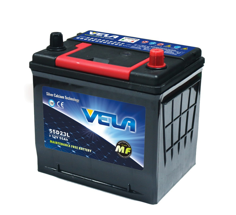 55D23RMF/MF55D23L/MF55D23R/55D23LMF Wet car battery, nice performance japan car battery brands