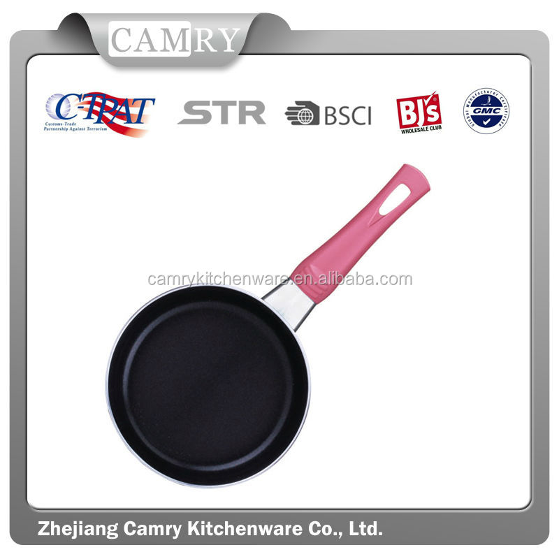 High quality aluminum non stick pink colour mini fry pan