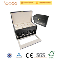 leather cover wholesale automatic watch winder case