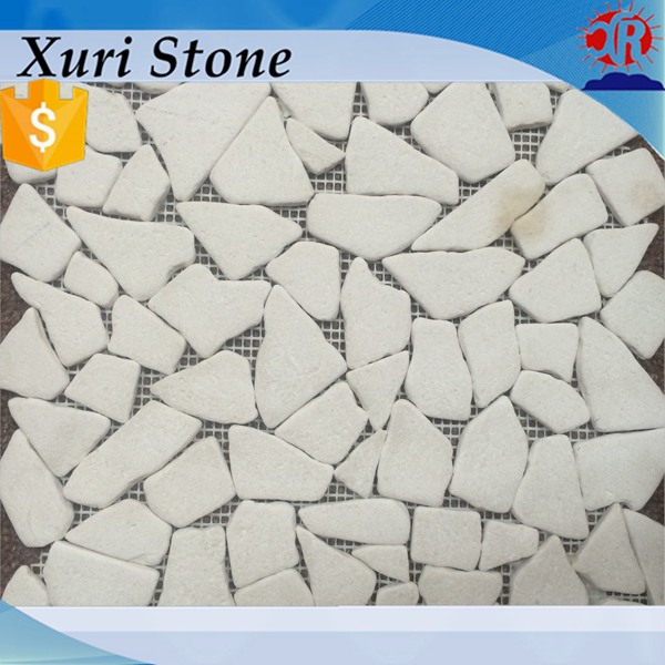 2016 new design Irregular antique limestone mosaic tile, mosaic tile for wall