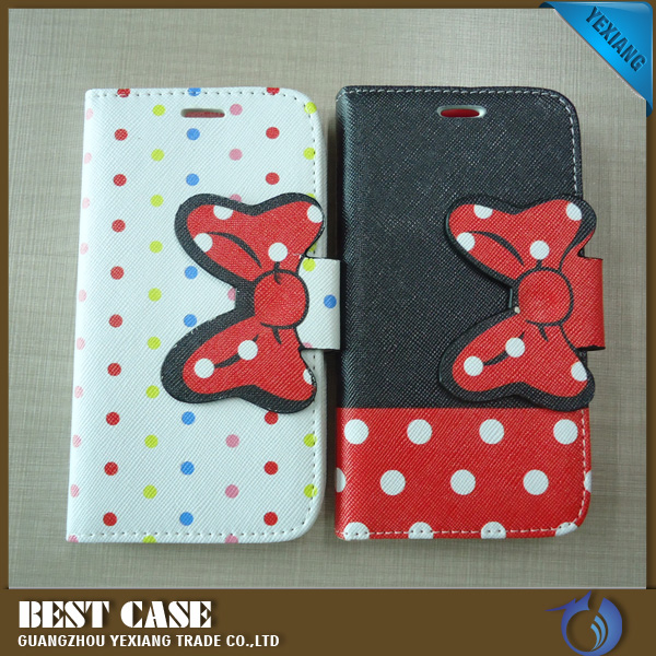 Book Style Universal Flip Case For 4.3inch/ 4.5inch/5.0inch Cell Phone Custom Case