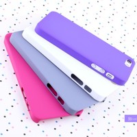 new rubber hard back case cover for iphone 5