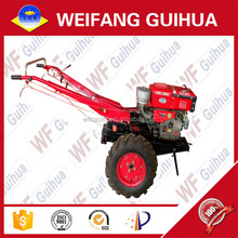 LHW-101 15HP red china electric start agricultural farm hand walking tractor for sale