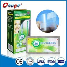 Elastic Gel Teeth whitening Strips,no peroxide tooth whitening strips