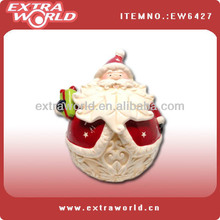 christmas santa ceramic jar