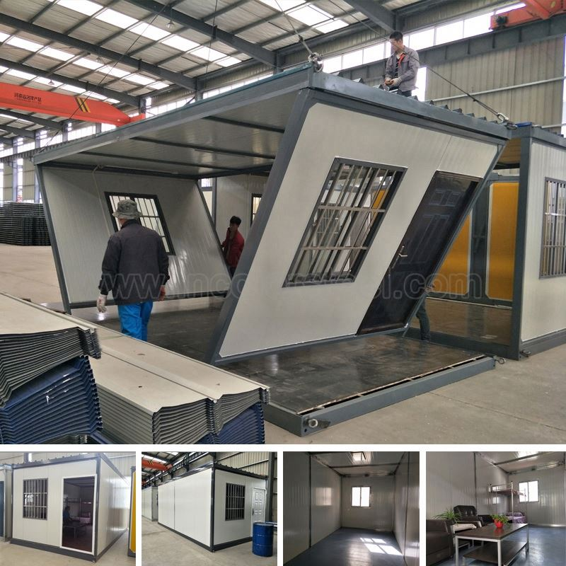 Ready made portable and modular cabins prefab house as kits and living room