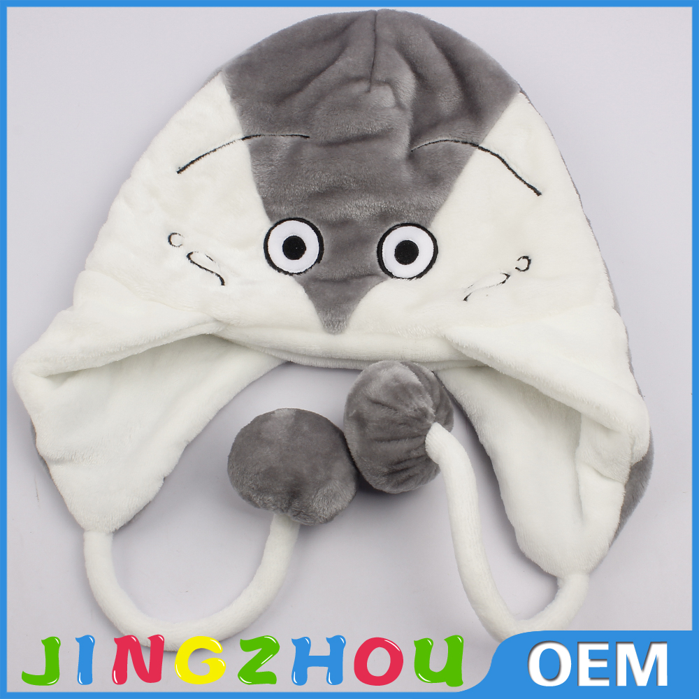customize design lovely soft plush animal hat for baby