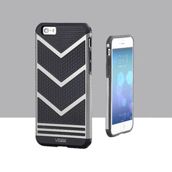 V Shape 2 in 1 PC & TPU Hybrid Armor Shockproof For Iphone 6 4.7 Inch Phone Case