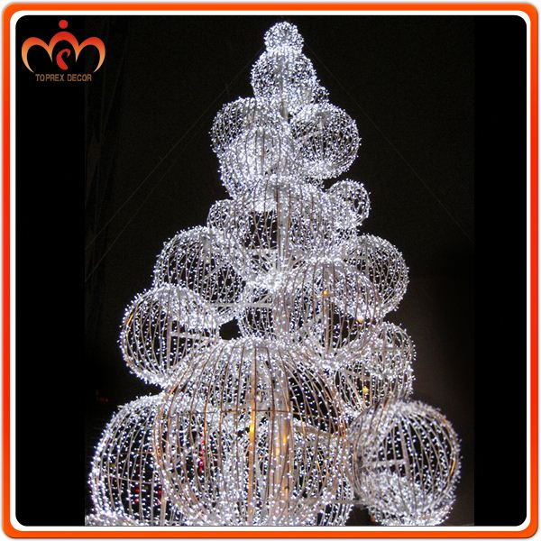 Dismountable ball tree outdoor christmas decorations for Christmas decorations clearance