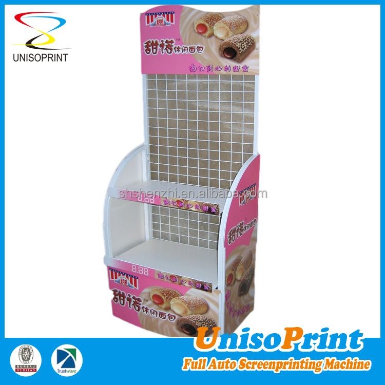 Wholesale China supplier design and produce merchandising metal bread display rack