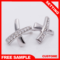 light weight cross crucifix silver ladies earrings designs pictures