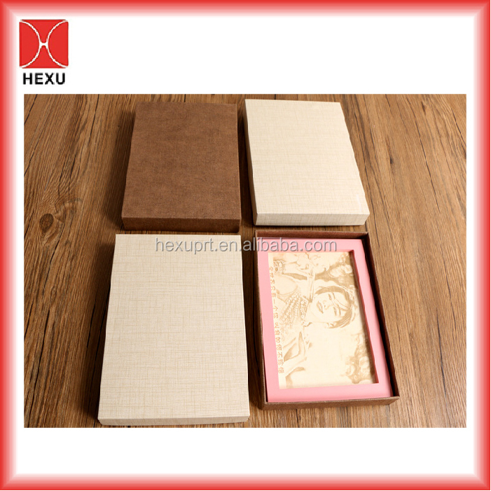 Factory direct sell customized luxury printing recycled false eyelash cosmetic kraft paper box packaging box