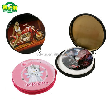Promotional Manufacture Tin CD Case With Zipper