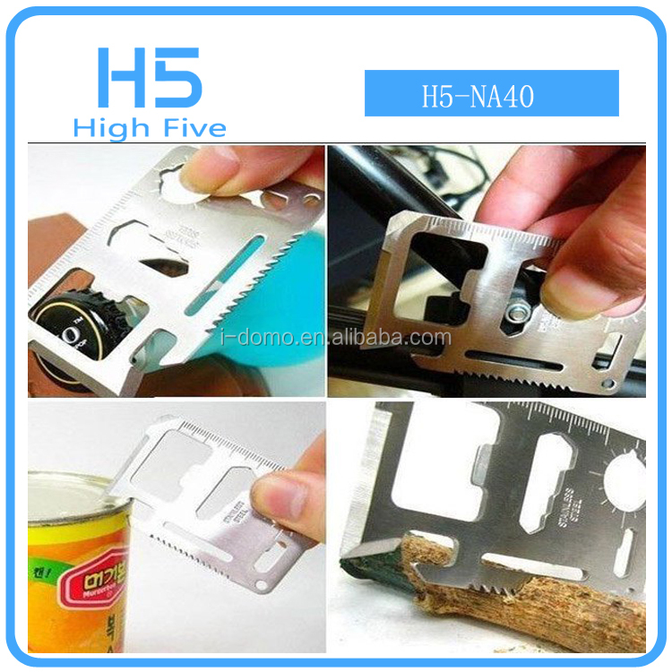 Multi-function tools card knife 18 kinds of functions high quality credit card knife