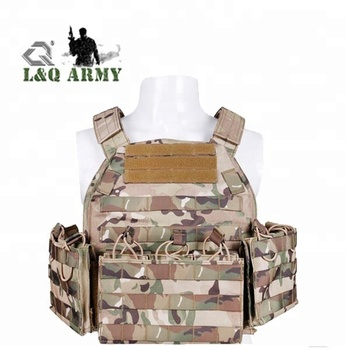 Tactical plate carrier military vest