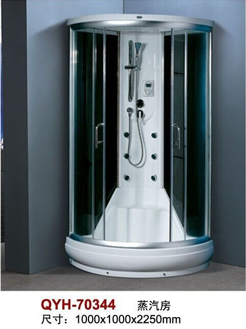 2014 Unique design steam shower room was made from tempered glass and aluminium alloy for bathroom