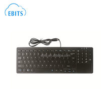 QWERTY layout nordic europe language customized USB wired keyboard with touchpad