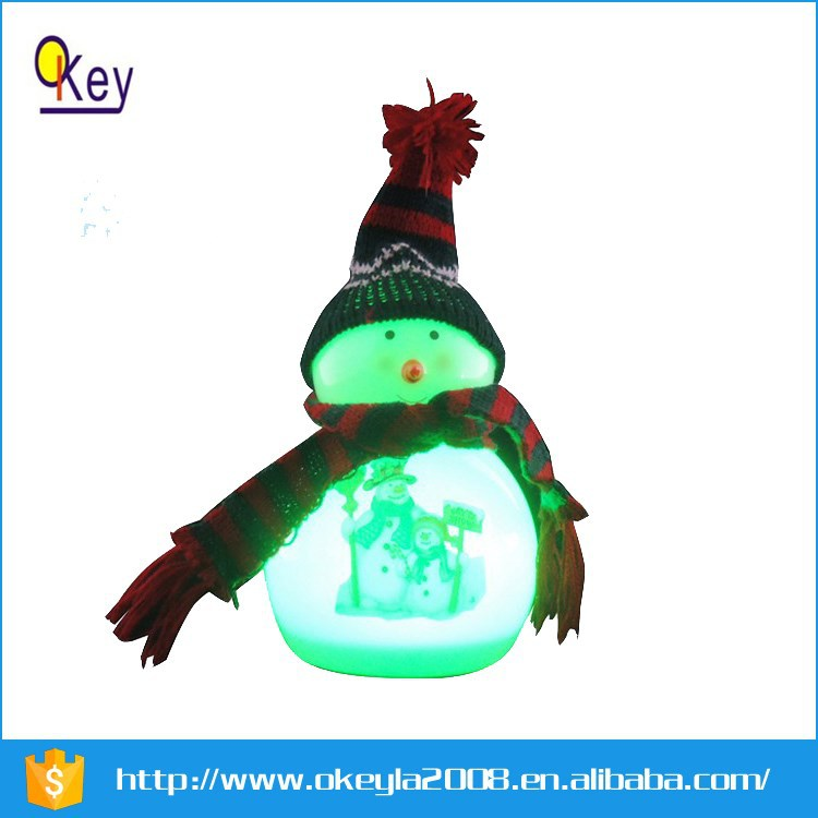 LED color changing lighted plastic snowman for Christmas Decoration Supplies