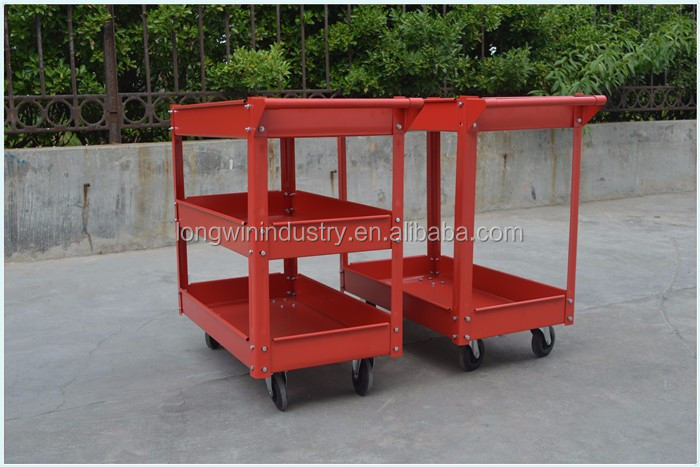 three layers types of service cleaning room service trolley