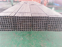 Black welded round structure steel iron tube