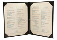 2017 pu fancy leather restaurant A4 leather menu covers