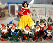 Fairy tale movie character snow white and the seven dwarfs garden statue