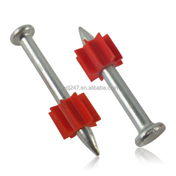 Drive pin with pvc red washer,shooting wire nail guangzhou factory