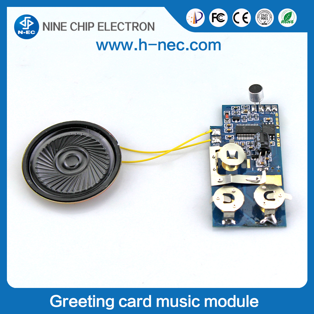 Battery music speaker module for greeting cards custom sound module