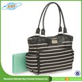 wholesale fashion white strip diaper bag guangzhou