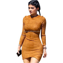 Hot plus Size Fat women dresses elegant new clothing female long sleeves small quantity clothing manufacturer with good quality