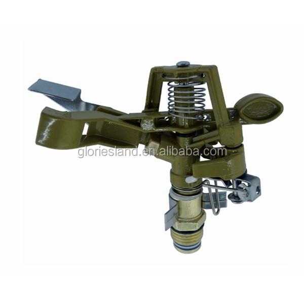 Farm irrigation impulse swing arm sprinkler