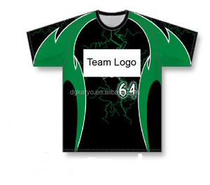 Sublimation Printing Dry Fit Custom Sublimated Baseball T Shirts