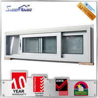 Australia AS2047 standard high quality thermal break small double glass sliding aluminium windows with stainless mesh
