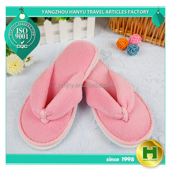 Coral Velvet Hotel Flip-flops / Fashion Sexy Pink Women's Fleece Indoor Flip-flops / Disposable Ladies' Velour EVA Flip-flops