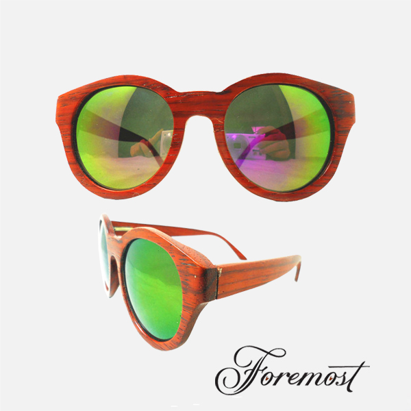 Upscale Handmade Wood Wooden Sunglasses Brand Simple Designer Men Women Polarized Colorful Fashion Sun Glasses