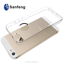 Multi Color Ultra Thin Clear Acrylic Back Cover TPU Bumper Cell Phone Case for iPhone 5G 5S SE