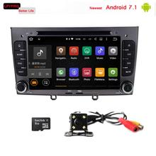 "7"" touch screen Quad Core Android 7.1 Car audio av radio stereo For Peugeot 308 408 accessories with GPS Navigation 2G RAM 4G bt"