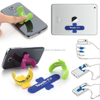 Factory oem touch pocket / silicone phone card holder / silicone holders