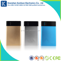 Unique style blue box silicone external battery charger portable mobile power bank with LED light