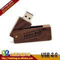 Free Logo Wooden Swivel USB Flash Memory 1GB