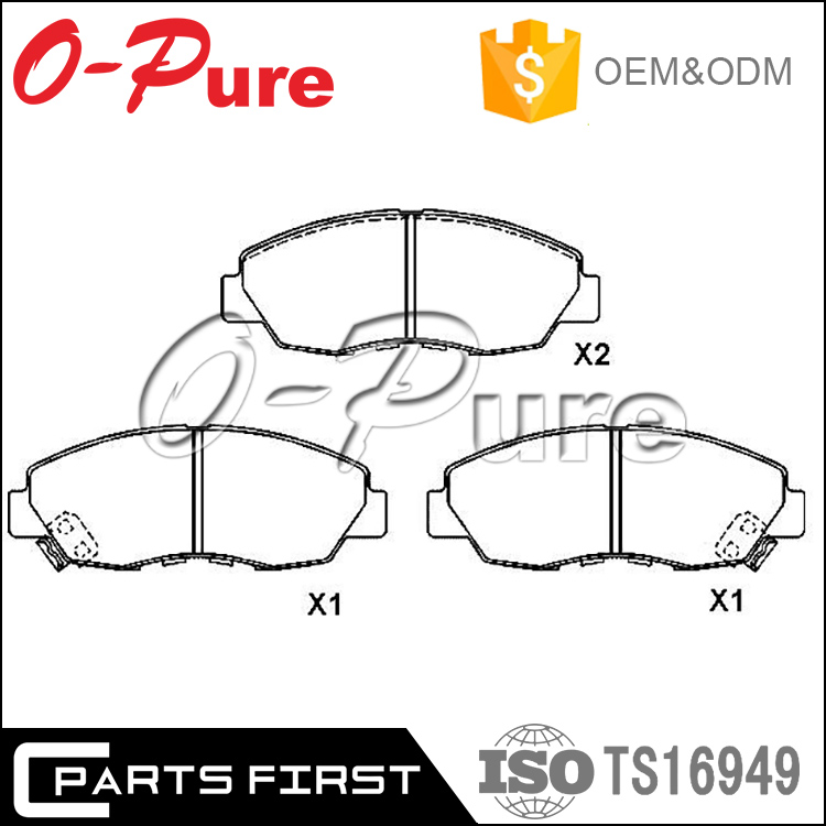 High quality Auto Parts Fabric Shim Car Ceramic Brake Pad OE: 45022-SM4-A00 FMSI D1089-7994