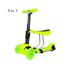 BYEBOO Christmas gift 3 wheel unfoldable 3 in 1 PU wheel flicker scooter for adults
