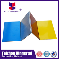 Alucoworld stucco wall panels/ aluminum composite panel pe