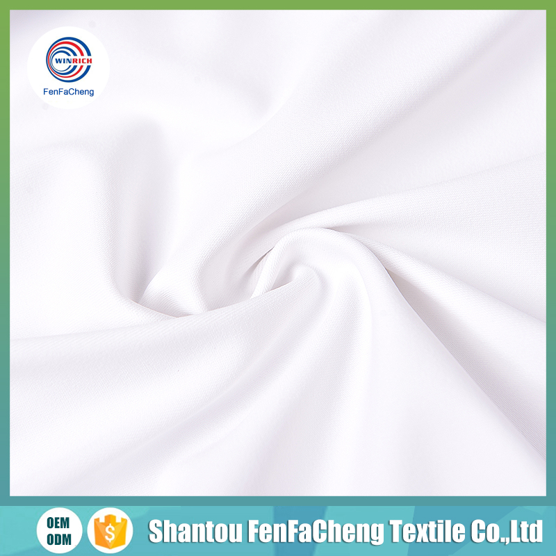 Dropshipper Polyester spandex weft knitted milk silk fabric for underwear